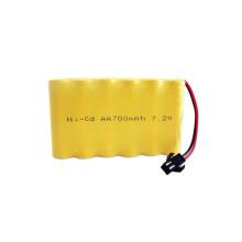 AA 9.6v 700mah ni-cd batterie