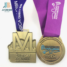 Promotion Gift Deboss Filling Color Marathon Custom Gold Running Medal