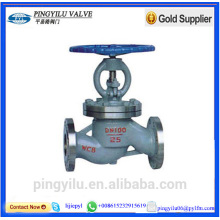 Cast iron butt welded end globe valve drawing china supplier