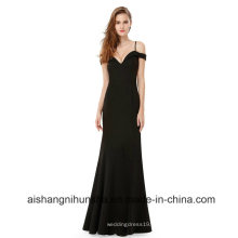 Sexy V-Neck Damen Elegant Off-The-Shoulder Ärmellose Lange Abendkleider