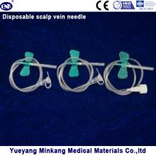 Aiguille intraveineuse à la veine scalp jetable avec aile papillon (ENK-TPZ-013)