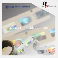 Kundenspezifisches Logo machen holographische Folienaufkleber im Rollen Verpackung