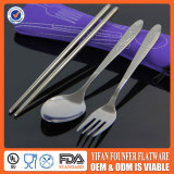 Promotional spoon fork chopsticks portable flatware for Children's day gift