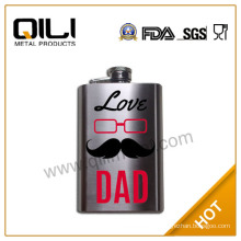5oz holiday stainless hip flask