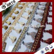 Productos de cierre Hangzhou Taojin Textile Tassel Curtain Franjas de borla