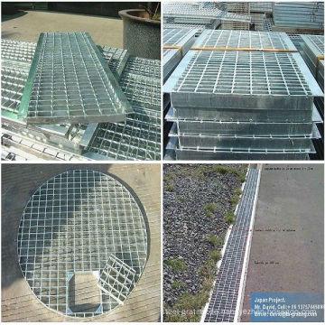 FEUERVERZINKTEN verzinkten Stahlvergitterung für Stahl Boden und Graben Gitter Abdeckung