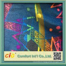 Mode nouveau design joli polyester utiles Imprimer velours auto tissus d'ameublement pour bus et voiture