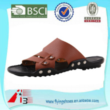 china rubber pu slipper , summer beach sandal slipper , fashion leather men slipper