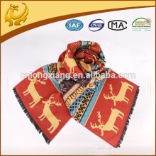 2015 the deer design christmas scarves