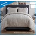 3 Piece Cream Linen-Look Polyester Comforter Bedding