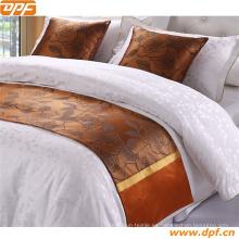 100% poliéster personalizada bufanda cama de hotel (DPF2669)