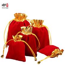 Nuevo diseño de regalo suave bolsa de terciopelo