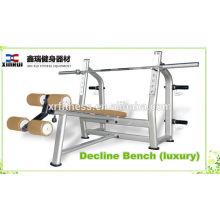 Plate Loaded Gym Type d'équipement Poids Liftinng Decline Banc (luxe) / Decline Chest Press fabriqué en Chine