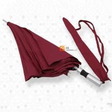 White Fiberglass Ribs and Aluminum Shaft Red Golf Umbrella (YS-G1005A)