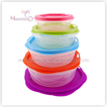 5pack Bento Lunch Box, Microwave Safe Plastic Storage Food Container