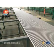 Acero inoxidable intercambiador de calor tubo A213 TP310S