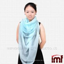 100% Kaschmir Mode quadratischen Schal 2014 Licht Farbe Schal