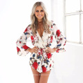 2017 new fashiopn women sexy jumpsuit clothing online shopping printed wholesale adult onesie with cheap price