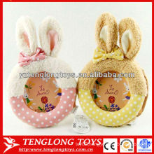 cute bunny ear decorative plush photo picture frame