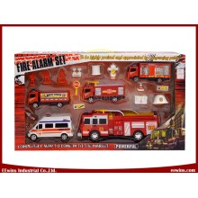 DIY Toys Fire Play Sets with Ambulance and Friction Toys Fire Engine