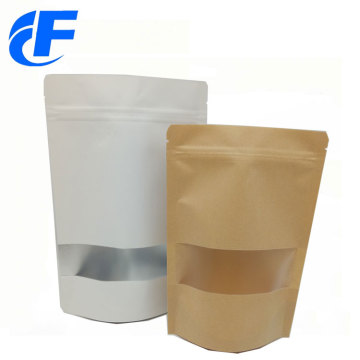 Custom printing kraft paper bag with window