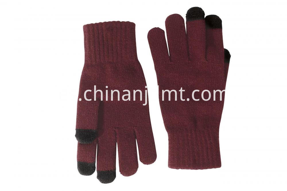 Touch Screen Gloves Wine