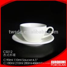 nuevo taza de porcelana de stock por mayor de café porcelana de diseño Hotel