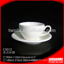 online shopping hot sale white porcelain tea cups with saucer
