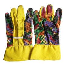 NMSAFETY поли-хлопок трикотажные перчатки рабочие перчатки ПВХ точками перчатки