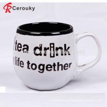 Taza de cerámica del té de la forma del barril del diseño de encargo