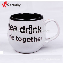Custom design ceramic barrel shape tea mug