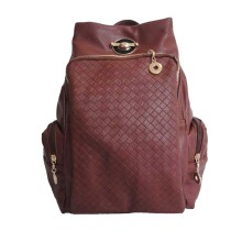 Unisex Vintage PU Leather School Backpack