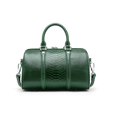 Green Crocodile PU Leather Boston Handbag Bolsas de tela