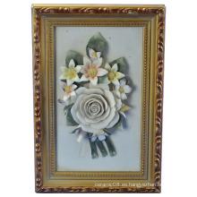 Marco de flores Artesanía Cerámica 2380