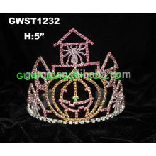 Замок корона тыква паутина тиара