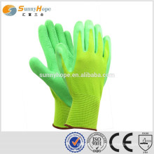 sunnyhope safety knit green garden gloves