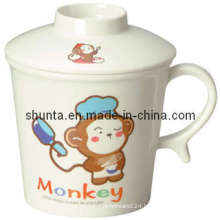 100% Melamine Dinnerware- Kid′s Mug W/Lid /Melamine Tableware (BG620S)