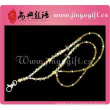 Modeschmuck gelb Perle Kristall Bead Keychain Vners