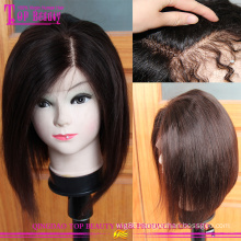 Wholesale 100 european short bob hot selling lace front wig human hair