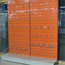 Supermarket Metal Slatwall Grocery Shelf