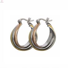 Gros célèbre marque belle boucles d'oreilles en acier inoxydable bijoux