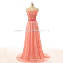 Eleagant A-line Vestidos De Fiesta Longo 2016 Hot Sale Chiffon Long Evening Gowns Appliqued Prom Dress Formal Occasions