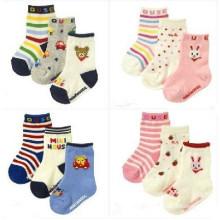 Crianças crianças meias de algodão do bebê (ka034)