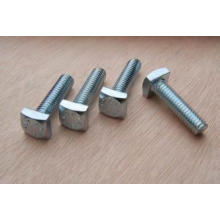 Full thread SS square head bolt