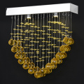 customized gold chandelier pendant lamp crystal