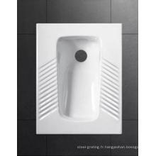 Vente chaude salle de bains en céramique toilette Squat Pan
