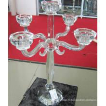 Bougeoir en cristal avec cinq affiches ....,