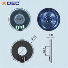 40mm 32ohm 0.5w super thin voice controlled speakers