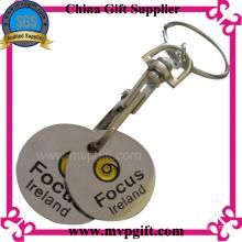 Porte-clés en métal avec cadeau de monnaie de chariot