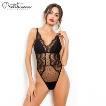Svart Lace Padded Cup Bodysuit